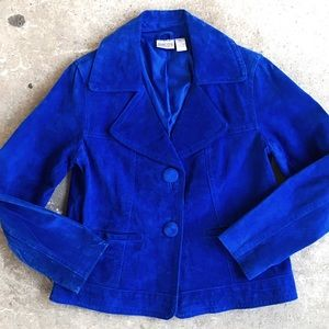 🆕 Listing!  Chico's | Blue Suede Jacket